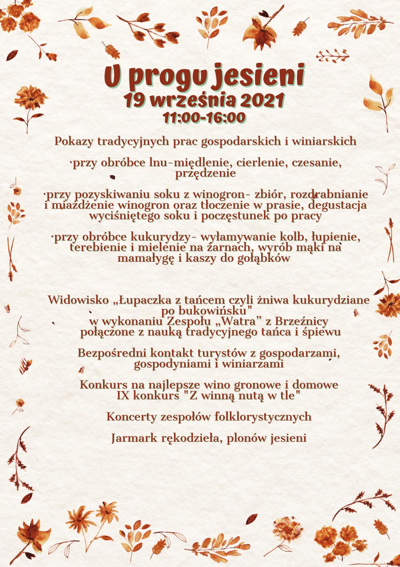 Plan imprezy